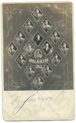 Baseball: 1913 Guelph, Ontario Maple Leafs; Canadian Leag; 2 MLB Players; RPPC