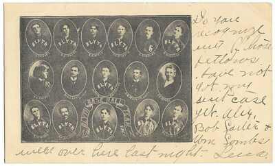 Baseball: 1906 Blyth, Ontario, Canada Team; All Players Identified