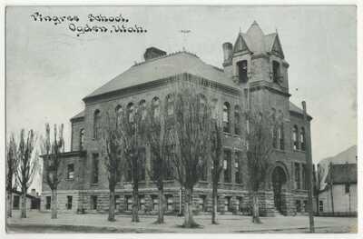 1914 Ogden, Utah - Pingree School Building - Vintage Postcard