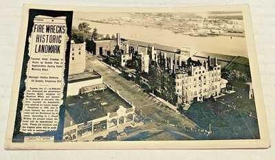 Tacoma WA Vintage Tacoma Hotel Ruins after the Fire RPPC 1935
