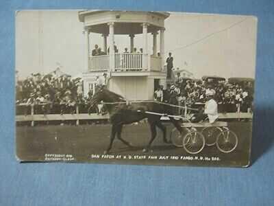 Dan Patch Pacer North Dakota State Fair RPPC 1910 Postcard