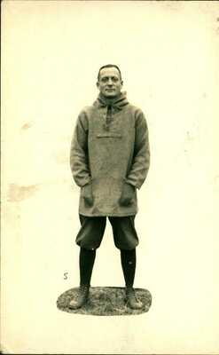 1921 RPPC Postcard Toledo Ohio Waite High School Football Coach Nelson Rupp