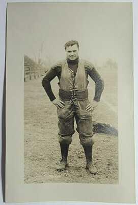 1910 Football Player Van Hook University of Illinois RPPC Postcard