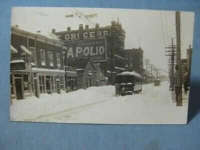 North Main Street Mansfield OH RPPC Ohio Trolley Postcard