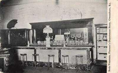 Owensboro Kentucky Pierson's Dept Store Soda Fountain Vintage Postcard AA44496