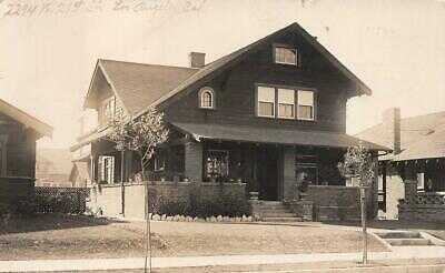 RPPC 2294 WEST 21ST STREET LOS ANGELES CALIFORNIA HOUSE REAL PHOTO POSTCARD 1910