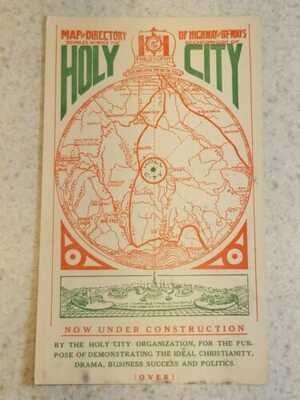 Holy City California under construction post card sized advertising card