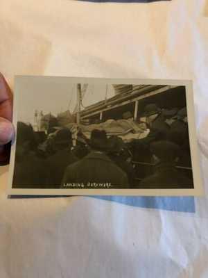 Original R.P.P.C. S.S. Florizel Shipwreck Landing Survivor Newfoundland Postcard