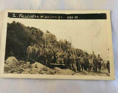 R.P.P.C. S.S. Florizel Shipwreck #2 Rescuers & Salvage Men Newfoundland Postcard