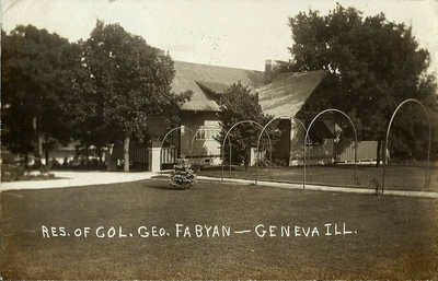 RPPC GENEVA IL Residence of Col. George Fabyan Vintage 1939 Photo Postcard