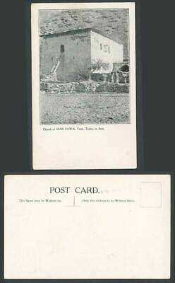 Turkish Old Postcard Church of MAR SAWA Tyari, Turkey in Asia, Assyrian, Hakkari