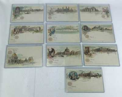 Set Of Ten Souvenir Post Cards From World Columbian 1893 Exposition