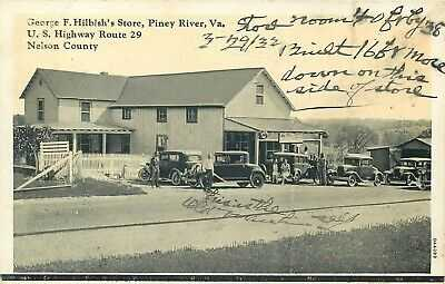 PINEY RIVER, VIRGINIA - GEORGE HILBISH'S STORE - BURGESS OLD POSTCARD VIEW