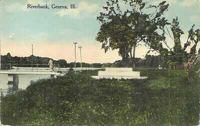 Printed Postcard 0463 Divided Back Posted Geneva IL Fabyan Footbridge
