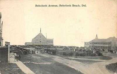 REHOBOTH AVENUE HORN'S REHOBOTH BEACH DELAWARE POSTCARD (c. 1910)