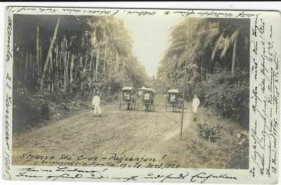 Philippines 1905 photographic card Strasse Sta Cruz to Switzerland