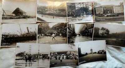 1927 HONG KONG PHOTOGRAPHS - TYPHOON AUG 1927 X 11