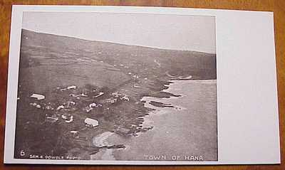 1900's Town of Hana Coastline Panorama Maui TH Hawaii Sam Dowdle #6 Scarce