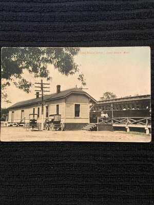 1908 Long Beach, Mississippi Train Depot RPPC DB Antique Postcard