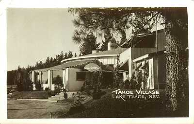TAHOE VILLAGE, RPPC, LAKE TAHOE, NEVADA, VINTAGE POSTCARD