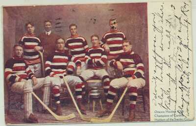 1910 Ottawa Hockey Stanley Cup Champions on 1911 PC Ottawa to Milwaukee