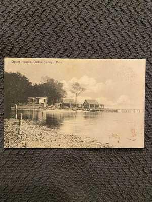 1908 Oyster Houses Ocean Springs, Mississippi RPPC DB *RARE*