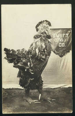 "1910 RPPC, PHOTOS OF ROOSTER, PRIZE WINNER AT ""MERCHANTS CARNIVAL"" TRENTON, MO."
