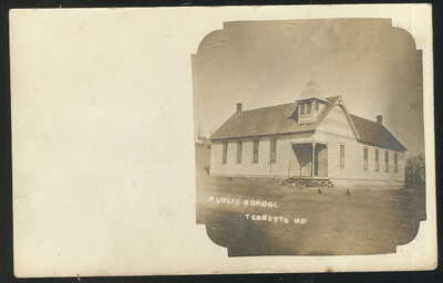 SCARCE 1908 RPPC, PUBLIC SCHOOL, TEBBETTS, MO.