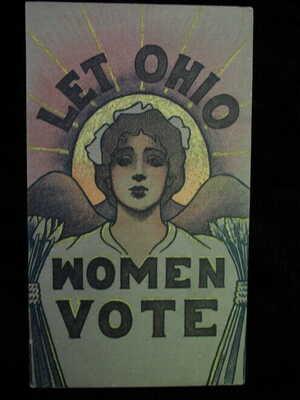 ANTIQUE ORIGINAL POSTCARD VOTES FOR WOMEN SUFFRAGETTE SUFFRAGE POLITICAL (H1)