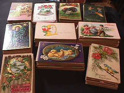 1000 VINTAGE GREETINGS POSTCARDS EASTER, CHRISTMAS, BIRTHDAY & OTHER