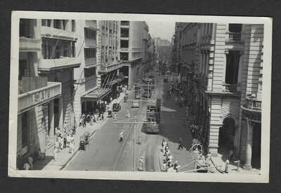 Hong Kong 1947 Street Photo Postcard to Oklahoma in US