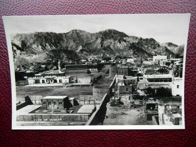 View of Town MUSCAT Sultanate of Oman Arabia *Vintage* RP c1950s SNM6