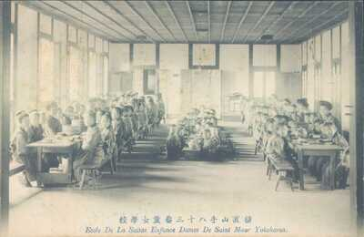 JAPAN Yokohama French Christian school class 1910s PC