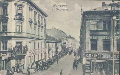POLAND Warsaw Ordynacka Avenue 1910 PC
