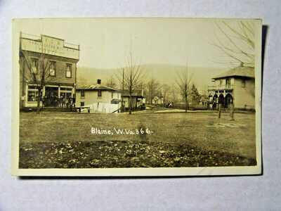 Blaine West Virginia WV RPPC Photo Eagle Lodge Store 1908 Blaine Barlow WV