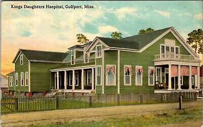 GULFPORT, MISSISSIPPI - KINGS DAUGHTERS HOSPITAL - OLD POSTCARD