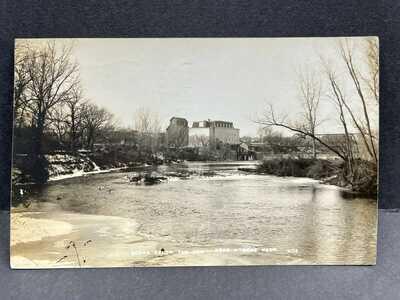 Wymore, Nebraska-Roller Mill-Elevator-Mill Dam c1912 RPPC Real Photo Postcard