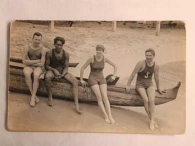 Hawaii Duke Kahanamoku Vintage postcard RPPC