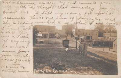 Paddy on Guard, Railway, Loogootee Indiana, Real Photo Postcard