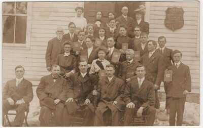 Utica NY Seventh Day Adventist Church Vintage RPPC Photo Postcard Alvin Caster