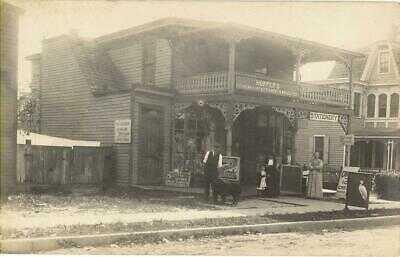 Real Photo Beach Haven NJ Hopper's General Store Postcard ca 1915