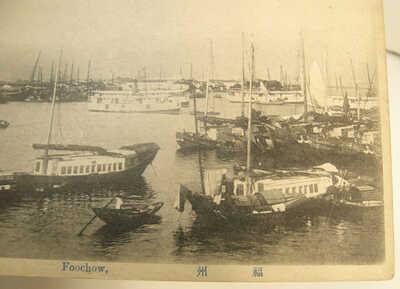 7 OLD B&W POSTCARDS FOOCHOW FUZHOU CHINA 1915-1930 BUILDINGS HARBOR BRIDGE