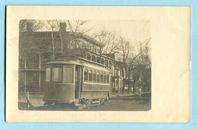 Antique MIDDLETOWN DE RPPC * Close-up TROLLEY * DELAWARE Real Photo