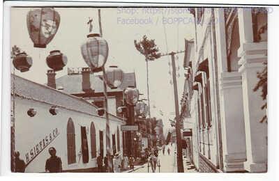 CHINA , PHOTO POSTCARD , CHEFOO , CHINESE SCENE , YANTAI ca1910