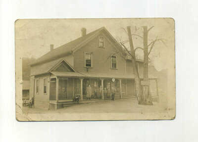 Vintage Real Picture Postcard Post Office Cranberry North Carolina NC RPPC