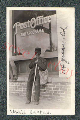 TALLAPOOSA GEORGIA BLACK UNCLE RASTUS - circa 1910 rppc Photo GRADE 4
