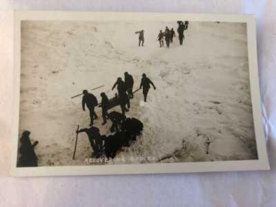 Original R.P.P.C. S.S. Florizel Shipwreck Recovery Bodies Newfoundland Postcard