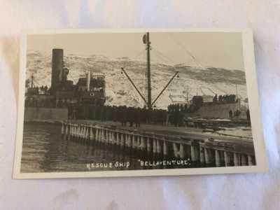 Original R.P.P.C. S.S. Florizel Rescue Ship Bellaventure Newfoundland Postcard
