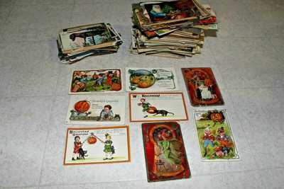 Antique 340 Postcards Lot  c.1900's Halloween Christmas Easter RPPC Other Rare