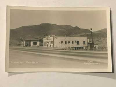 1915-30 RPPC Trancas Beach Malibu Ca. Bill Steeb Trading Post-Gas Station PC